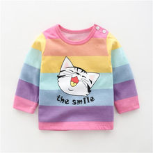 Kids T shirt Boys Girls Cotton Clothes Baby Tees Tops Animals T shirts Cartoon Kids Boys New Design Children Girl Top(China)