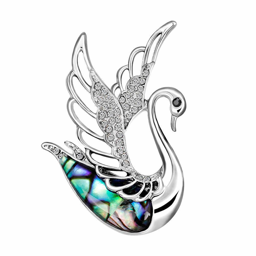 Kreatif Hewan Pin Set Butterfly Kucing Swan Kawaii Bros Hewan Perhiasan Batu Bros untuk Wanita Hadiah Lucu Gratis Pengiriman