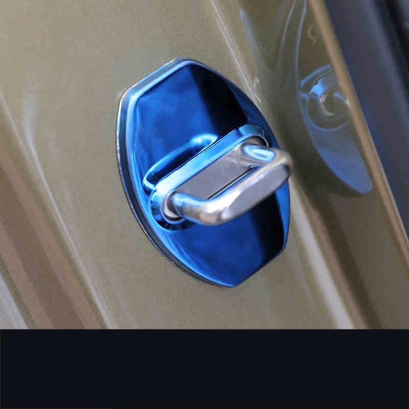 Lsrtw2017 Stainless Steel Abs Car Door Lock Buckle Cover for Skoda Kodiaq Karoq Interior Mouldings Accessories