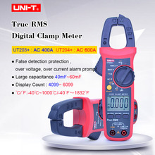 T-RMS Digital Clamp Meter AC DC Multimeter voltage current tester UNI-T UT203+ UT204+ Resistance Frequency Diode Continuity test uni t ut203 1 4 lcd digital clamp multimeter red black 1 x 9v 6f22 battery