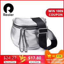 REALER Messenger-Bag Crossbody-Bag Wide-Strap Artificial-Leather Female Fashion High-Quality