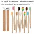 10 шт./компл.  бамбуковые зубные щетки  мягкие щетинки для ухода за полостью рта  экологически чистые щетки для взрослых с логотипом на заказ