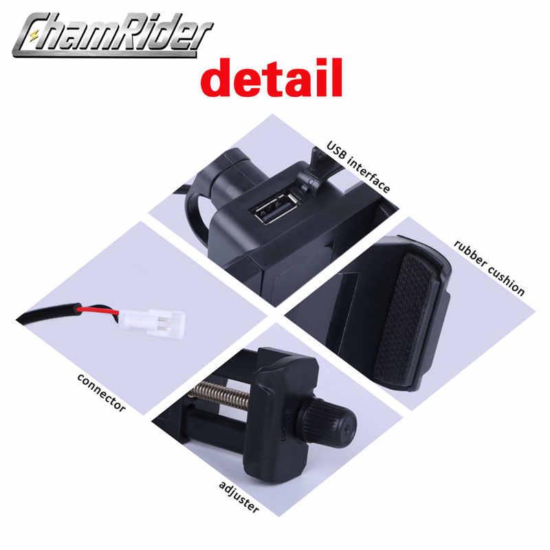 Sepeda USB Charger Ponsel Ponsel Braket Stang 5V Masukan Pengisi Daya 36V 48V 72V -100 V Output 5V 2A