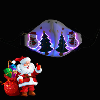Christmas glow mask Led lighting Christmas mask image