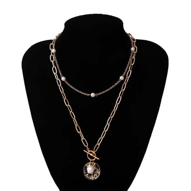 pearl and bar lock necklace 6