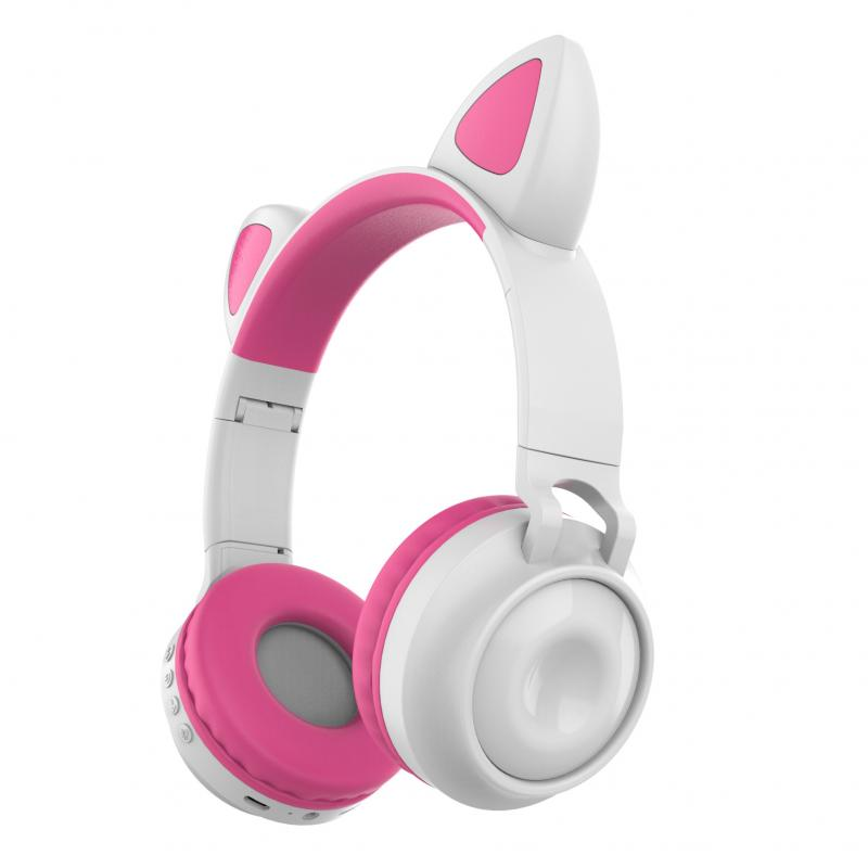 <font><b>Cat</b></font> Ear <font><b>Bluetooth</b></font> 5.0 <font><b>Headphone</b></font> Wireless Earphones Headset Glowing For Girls Headset Hifi Stereo Music Earbuds With Microphone image
