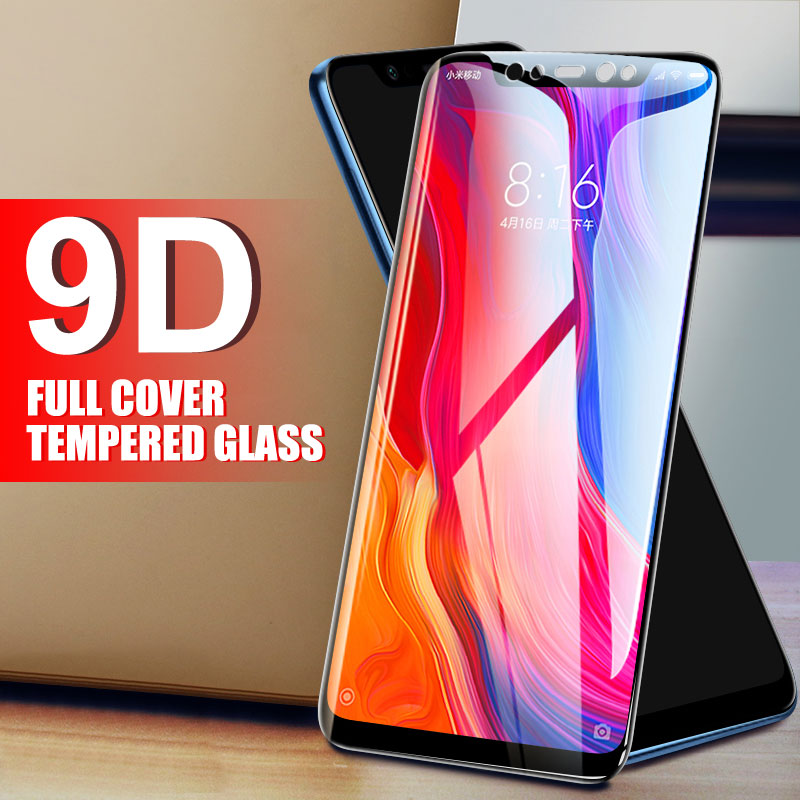 9D Full Protective Glass For Xiaomi Mi 8 SE Mi8 Pro 5X 6 6X A1 A2 Lite Note 3 Pocophone F1 Play Tempered Screen Protector Film