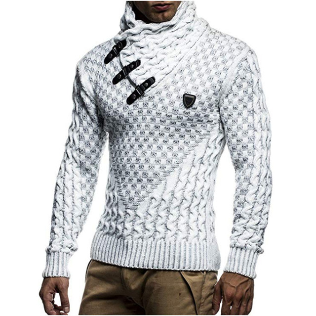 Men Sweaters Hot Warm Hedging Turtleneck Pullover Sweater Male Casual Knitwear Slim Winter Sweater Men Brand Clothing