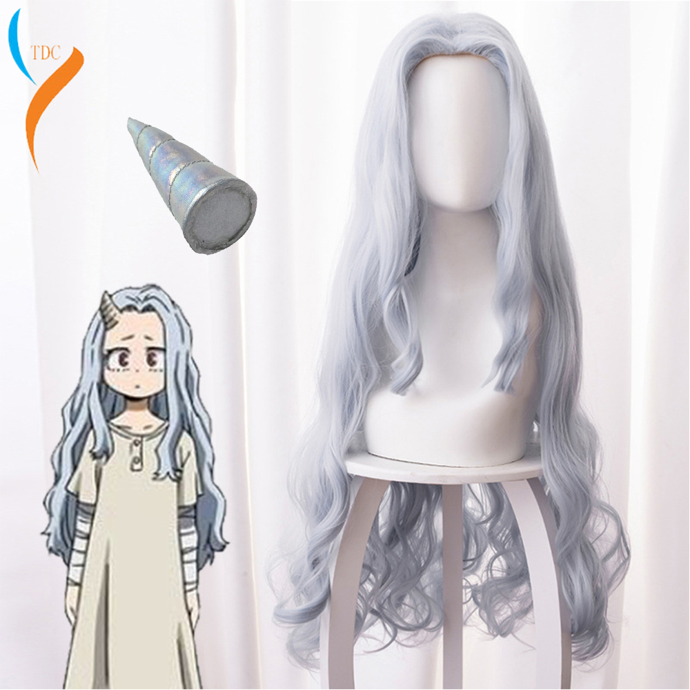 2020 Fashion Anime My Hero Academia Eri Chisaki Woman Gray Blue Wig Cosplay Heat Resistant Synthetic Wigs+free Wig Cap