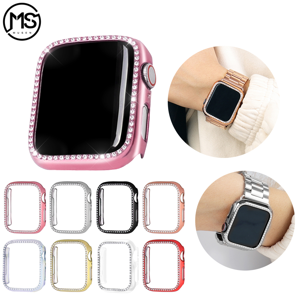 Suitable for Apple <font><b>watch</b></font> <font><b>Case</b></font> series 5 4 <font><b>case</b></font> 44mm 40mm smart plating protection <font><b>case</b></font> Suitable for iwatch series 321 <font><b>42mm</b></font> 38mm image