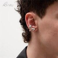 AOMU 2020 Neue Zwei Verwendet Knorpel Geometrische Blatt Twine Ohr Manschette Durable Zweck Ring Clip Ohrringe Ohne Piercing für Frauen männer