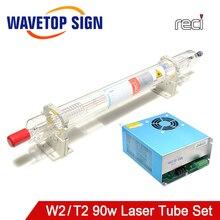 WaveTopSign Reci W2/T2 90W 100W Co2 rura laserowa Dia. 80mm/65mm zasilacz HY DY10 80W do Co2 maszyna do laserowego cięcia i grawerowania