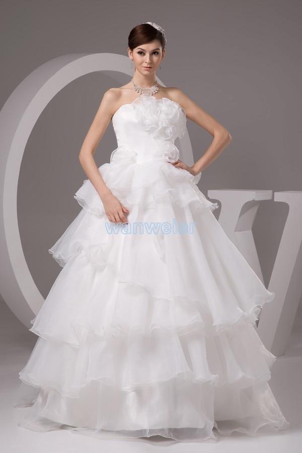 Livraison gratuite 2016 nouveau design personnalisé taille blanc robe de mariée discount robe de mariée l'élégant à la main fleurs robe de mariée