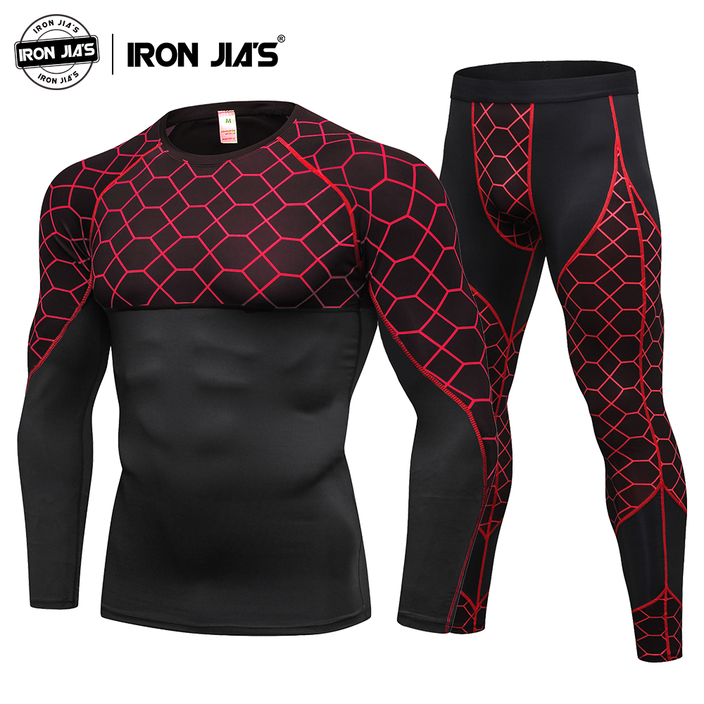 Motorcycle Men's Underwears Sets Sport Breathable Quick Drying Base Layers Tight Long Tops & Pants Sportswear Underwear