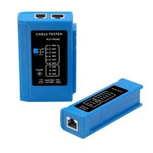 Подключение RJ45 RJ11 Ethernet Lan светодиодный индикатор сетевой кабель тестер электропроводка проблема схемы домашний офис ремонт инструмент шир...