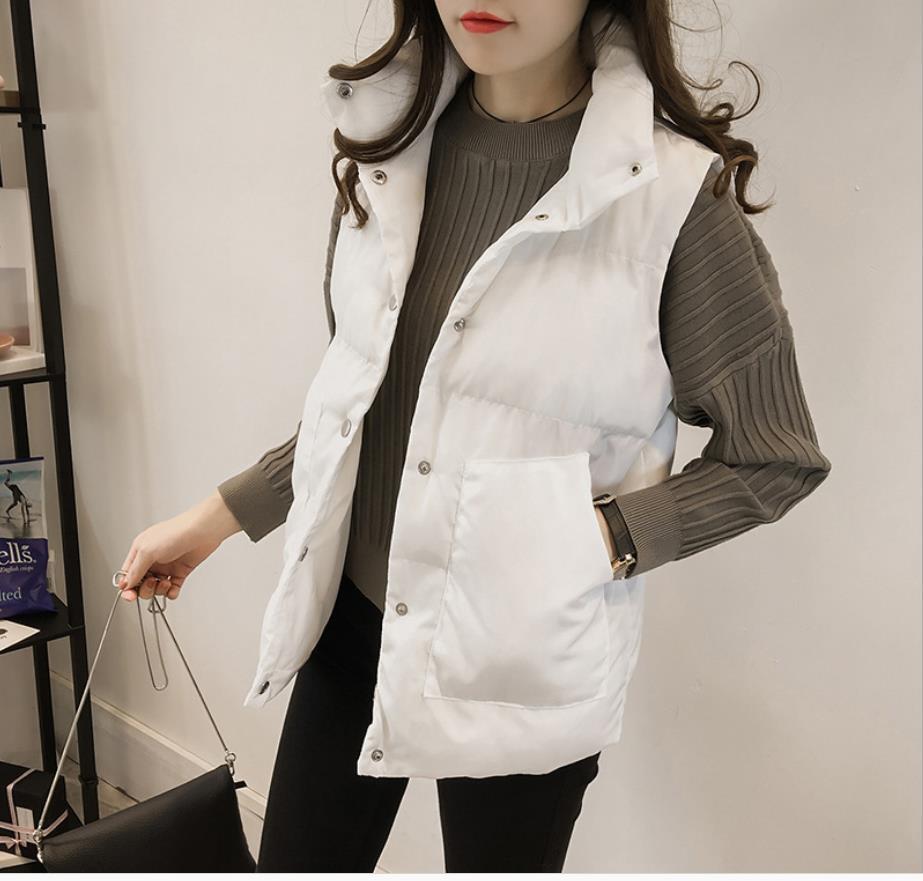 Vest 2019 Female Short Section Slim Jacket Vest Spring And Autumn New Basic Coat Jacket  201923