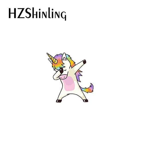 2019 Nuovo Arrivo Resina Epossidica Acrilico Spilla Cartone Animato Cattivo Unicorno Bello Arcobaleno Cavallo Pegasus Shrink Resina Spilla Spilli