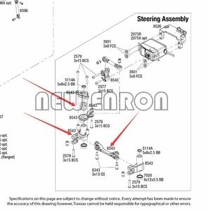 Image 5 - Nova enron #8543 conjunto de montagem de direção servo de alumínio para peças de carro rc traxxas 1/7 ilimitado desert racer udr 85076 4 85086 4