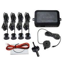 12V Car Parking Sensor Kit Reverse Backup Radar Alert Indicator Probe System 4 Probe Beep Sensor Car Detector