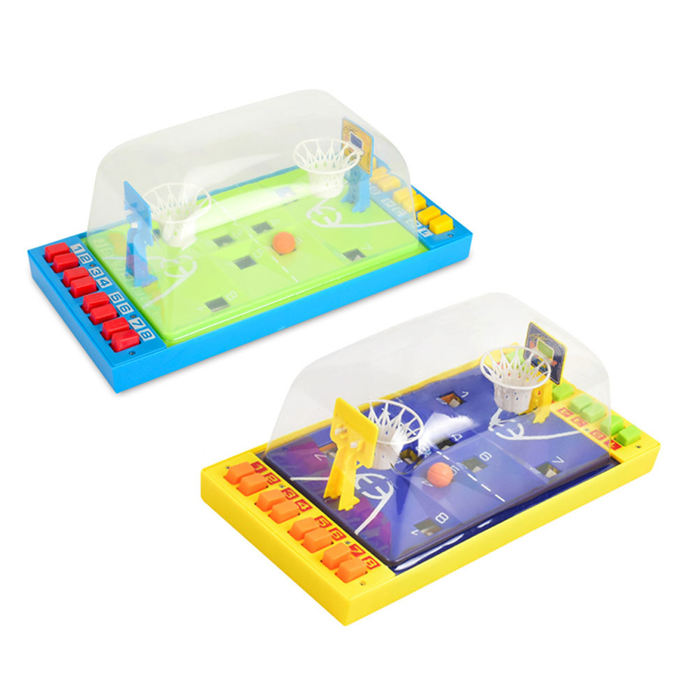 Double Play Button Ejaculation Mini Basketball Table Games Portable Baby Desktop Puzzle Toy Table Basketball Kids Education Toys