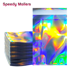 Image 5 - 100 stücke Laser Self Sealing Kunststoff Umschläge Mailing Lagerung Taschen Holographische Geschenk Schmuck Poly Klebstoff Kurier Verpackung Taschen