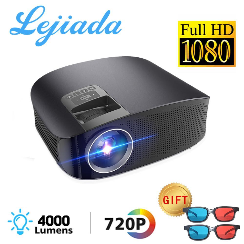 LEJIADA YG600 HD Projector LCD Beamer Support Full HD 1080P YG610 Home Theatre HDMI VGA USB Video Portable LED Projector    -