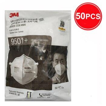 3M 9501 + Maschera Particolato Maschere di Protezione Maschera di Sicurezza Usa E Getta Viso Maschera Sanitari Respiratore Lavoro 3M KN95 Mascarilla 7