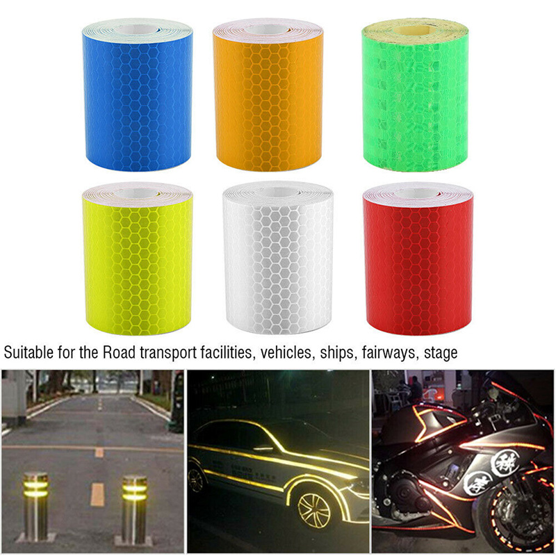 1m*5cm Car Truck Reflective Self-adhesive Safety Warning Tape Roll Film Sticker