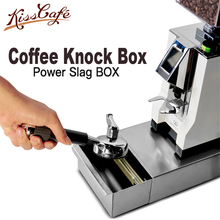 NEW Stainless Steel Espresso Coffee Knock Box With Drawer Slag isnt Splash Manual Grinder Accessories