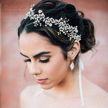 Topqueen Свадебные украшения для волос женщин свадебный ободок