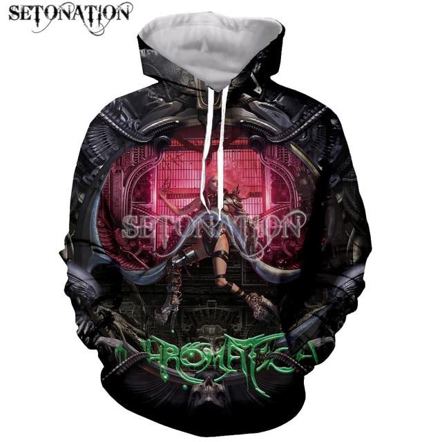 Lady gaga Chromatica Funny New Fashion Long Sleeves 3D Print Zipper/Hoodies/Sweatshirts/Jacket/Men/women dropshipping 4