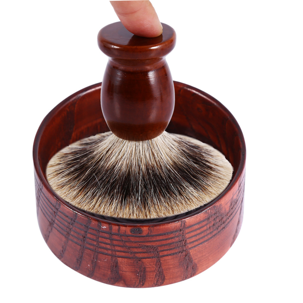 Useful Men Shaving Bowl Anti-Adhering Wooden Shaving Brush Mug Shave Cream Soap Cup Bowl Face Cleaning Tools Shaving Soap Bowl