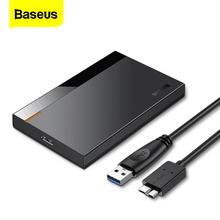 Baseus obudowa HDD 2 5 SATA na USB 3 0 typ C 3 1 Adapter obudowa dysku twardego zewnętrzny dysk twardy 6TB HD dysk twardy SSD HDD Box Caddy tanie tanio CN (pochodzenie) 2 5 Z tworzywa sztucznego Baseus 2 5 HDD Case Full Speed HDD Enclosure ABS+PC 50cm 2 5 SATA Hard drive 7mm 9 5mm thickness hard drive