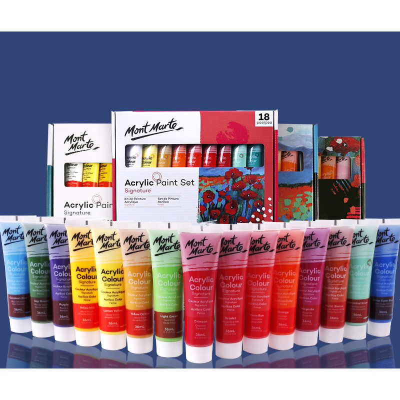 Student Painting Acrylic Paint Set Student Diy Painted Acrylic 36ml Pigment For Beginners Hand-painted Pigment