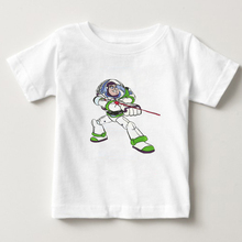 Children Classic Cartoon Toy Story Character Buzz Lightyear 3d T Shirt Space Galaxy Girl and Boy Summer Casual N