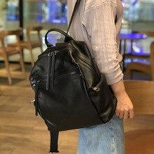 AETOO, женские кожаные большие рюкзаки, винтажная женская сумка через плечо, дорожная женская сумка, Mochilas, школьные сумки для девочек, преппи