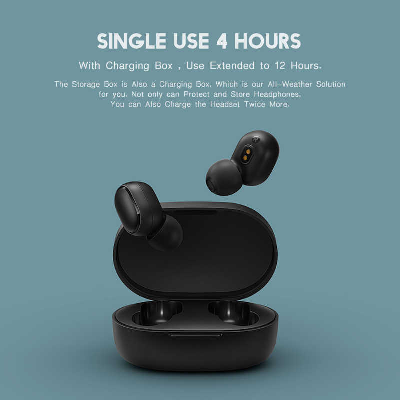 Xiaomi airdots Redmi AirDots bezprzewodowy Bluetooth 5.0 słuchawki douszne bas radiowy słuchawki douszne z mikrofonem zestaw głośnomówiący z słuchawkami AI Control