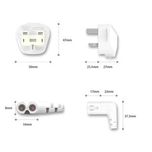 Image 3 - 3M สีขาว UK สายไฟ AC 3 มุม 90 องศา IEC C7 รูป 8 สำหรับ Samsung LG SONY Sharp LED TV, PS4 PS3 สายไฟ