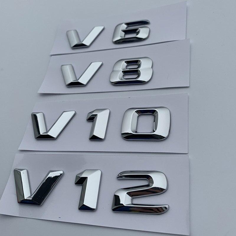 Mercedes Benz  logo ..SET. decal ..sticker .....x6 in CHROME...car.