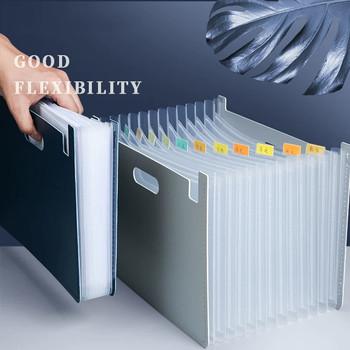 2020 New Arrival biurko Folder dokument Organizer do papieru uchwyt do przechowywania wielowarstwowe pudełko rozszerzające szkolne materiały biurowe tanie i dobre opinie NoEnName_Null Rozszerzenie portfel Torba Z tworzywa sztucznego