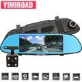 Yimiroad 1080 p a5 carro dvr gravador de vídeo automático duas lente veículo traço cam 7