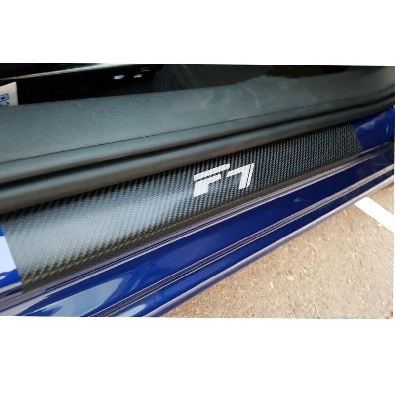 For Great Wall Haval F7 Carbon Fiber Vinyl Sticker Car Door Sill Protector Sticker Car Accessories