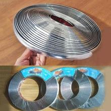 Полоса для автомобильного бампера, серебристая отделка, сменные устойчивые к царапинам аксессуары