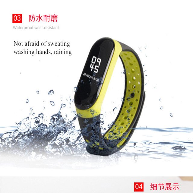 For Mi Band 3 4 strap sport Silicone watch wrist Bracelet miband3 strap accessories bracelet smart for Xiaomi mi band 3 4 strap 3