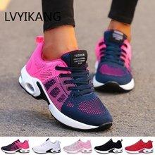 Mulher tênis de corrida respirável sapatos casuais ao ar livre de pouco peso sapatos esportivos casuais tênis de caminhada tenis feminino