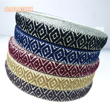 1 meter Cotton jacquar webbing 25mm wide ethnic ribbon embroidery style trim accessory for bag/garment/homedeco homedeco