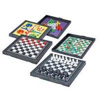 Juego de mesa magnético 5 en I para niños y adultos, regalo de entretenimiento para padres e hijos, ajedrez volador, Mini juguete tradicional de viaje
