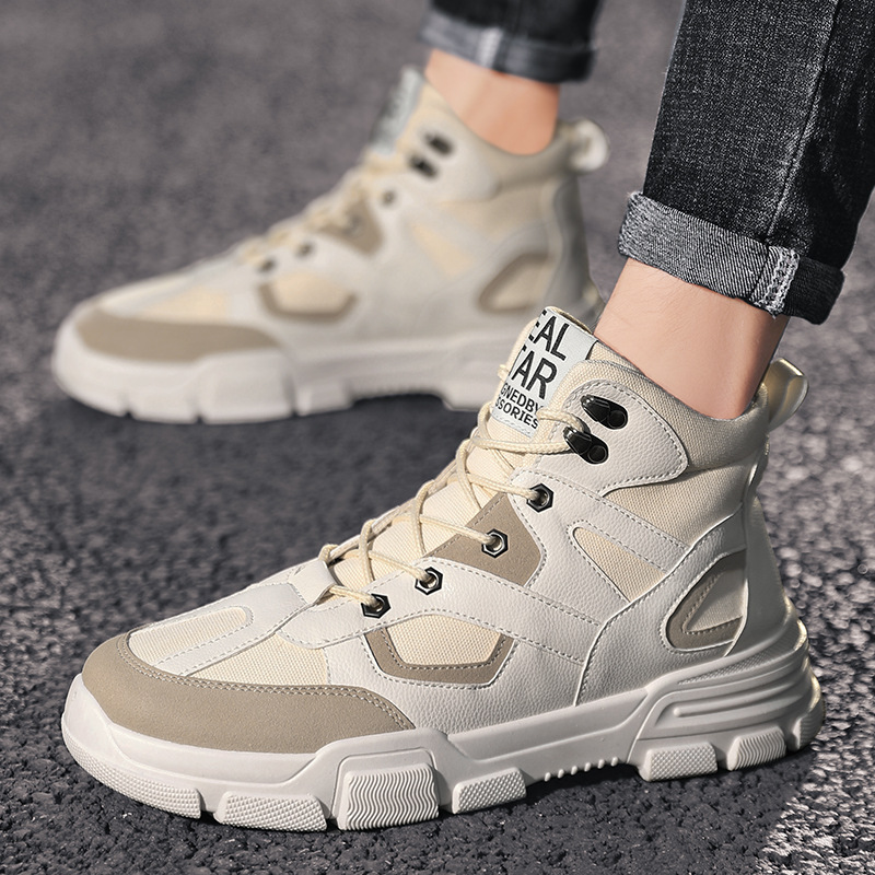 Martin boots men's autumn new high-top canvas casual England high to help the trend of student boots retro tooling shoes