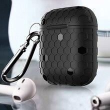 グリッドapple airpodsケースイヤホンアクセサリーワイヤレスbluetooth iphone airpodsケースとフック