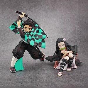 Image 4 - Фигурка Kimetsu no yaiba, фигурка nezuko tanjirou zenitsu, аниме фигурка рассекающего демонов, экшн фигурка из ПВХ, коллекционные модели, игрушки, подарки, 6,5 18 см
